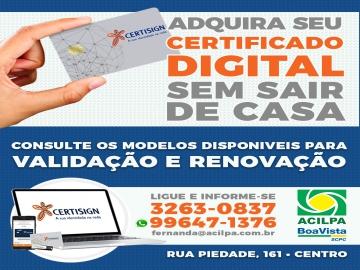 Certificado Digital pode ser feito on-line