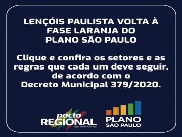 Lençóis Paulista volta à fase laranja do Plano São Paulo
