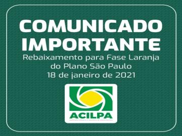 Rebaixamento da região de Bauru para a Fase Laranja do Plano São Paulo