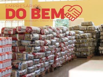 Campanha Empresários do Bem arrecada 40 toneladas de alimentos