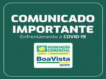 Comunicado Importante • Enfrentamento à Covid-19