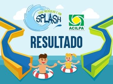 Resultado do Concurso Cultural Cada Mergulho é um Splash