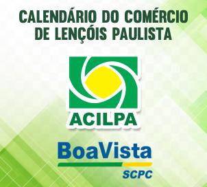 Calendário do comércio de Lençóis Paulista
